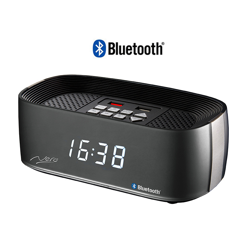 Nero Titanium Bluetooth Alarm Clock Radio