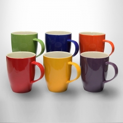Assorted Coloured Mugs 370ml