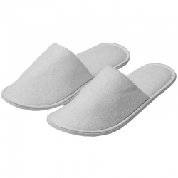 Closed Toe Terry Cotton Slippers
