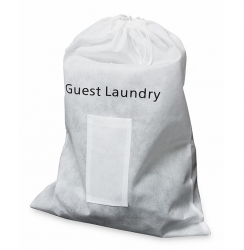 Guest Non-woven White Laundry Bag