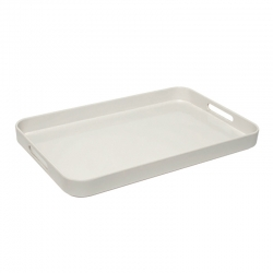 Large Melamine Tray with Side Handles White