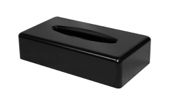 Rectangular Tissue Box Matte Black