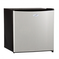 Nero 46L Silver Front Bar Fridge and Freezer