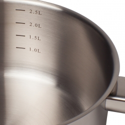 Saucepan 20cm With Glass Lid Stainless Steel